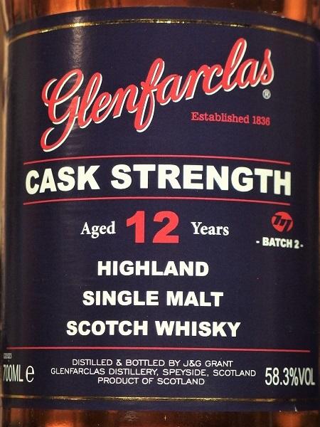 GLENFARCLAS 12yo Cask Strength_L600