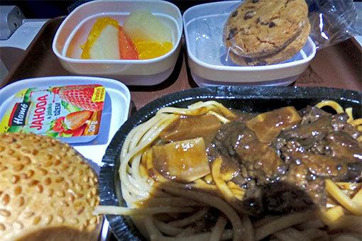 中国東方航空機内食 ゴープロ 魚眼無効 チェコジャム