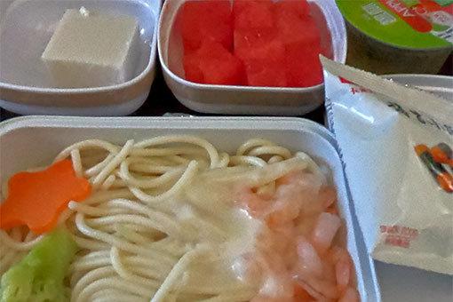 中国東方航空機内食 ゴープロ 魚眼無効 日本へ