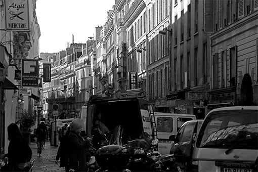 フォーブール・ポワッソニエール通りの風景
