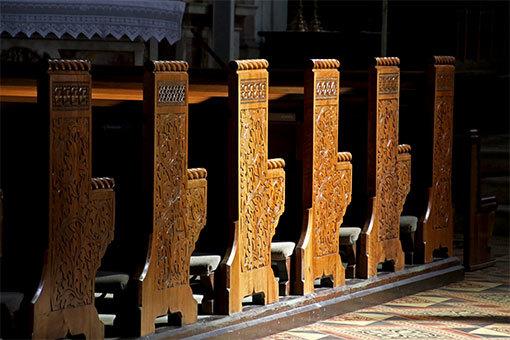 メラーノ サン・ニコロ教会の椅子