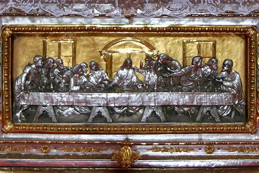 サンタ・マリア・デル・カルミネ教会 祭壇 最後の晩餐