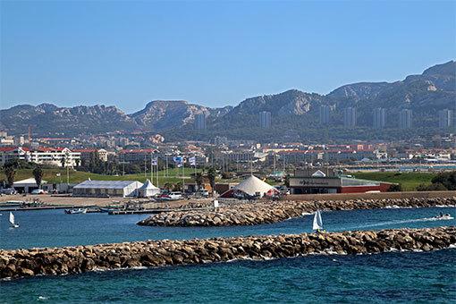 マルセイユ海岸競馬場方面風景