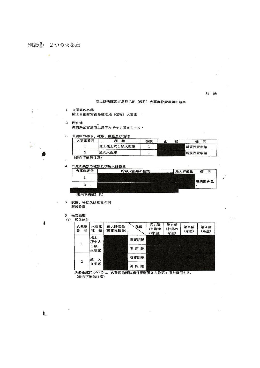 別紙⑥ 2つの弾薬庫