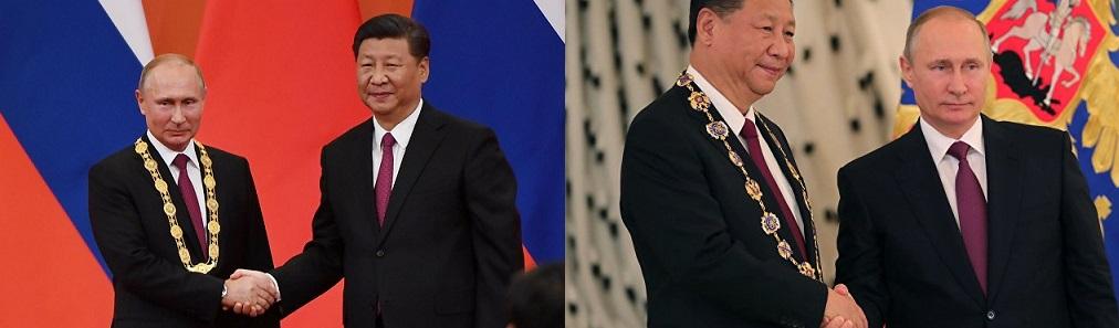 ロシアのプーチン大統領に友好勲章を授与