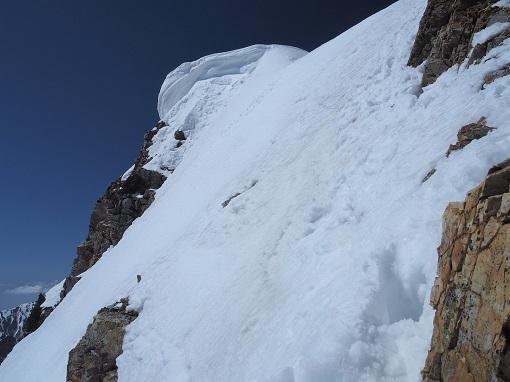 杓子岳山頂直下
