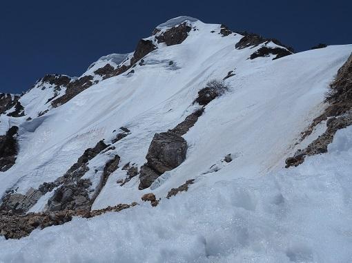 杓子岳を俯瞰する