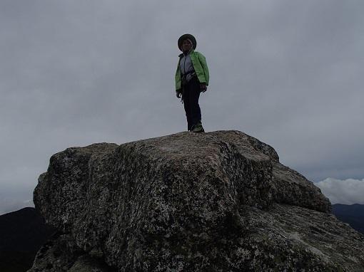 五丈岩の上