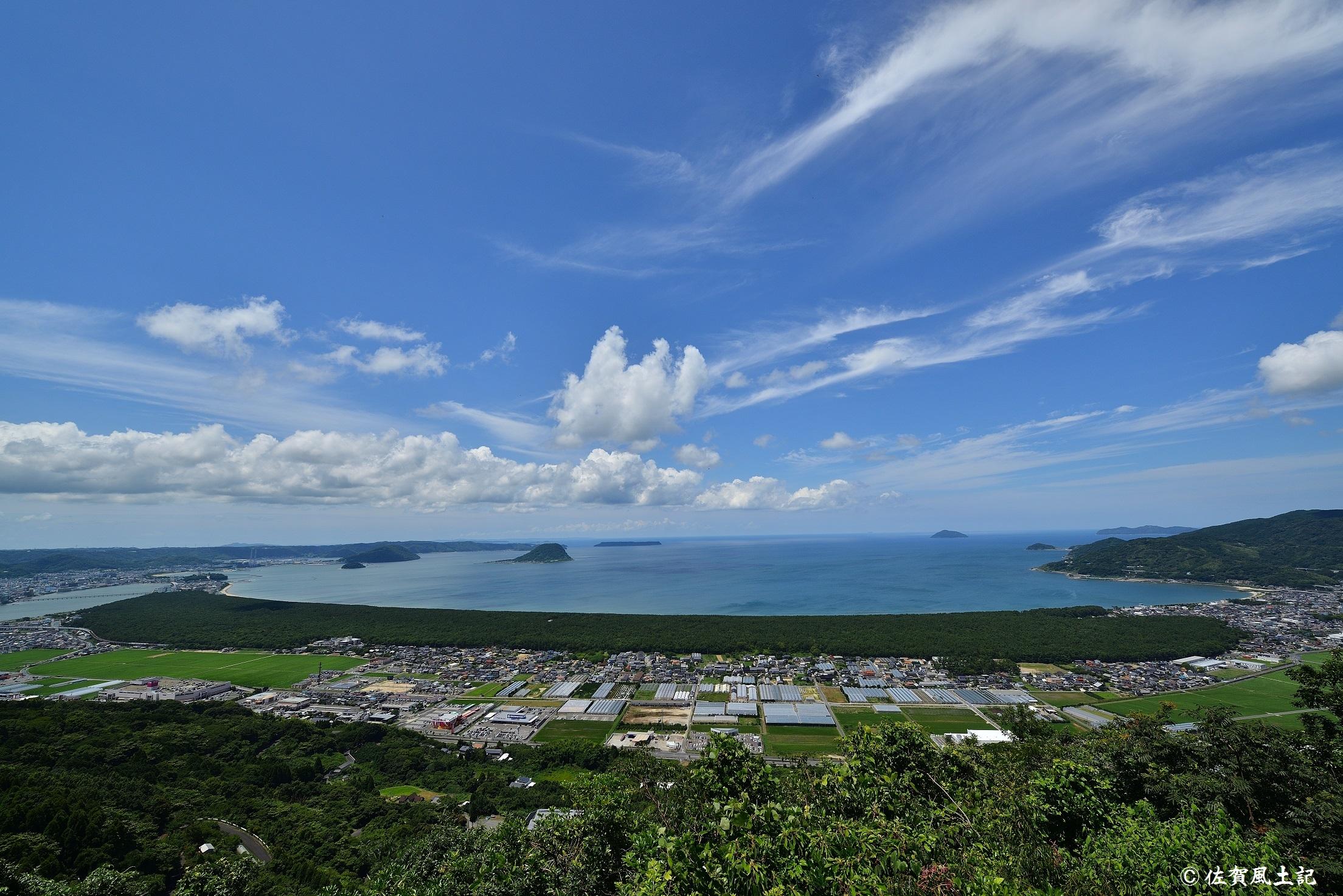 鏡山からの虹ノ松原