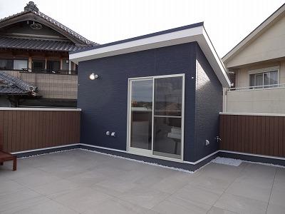 熊取町の屋上のモデルハウス01