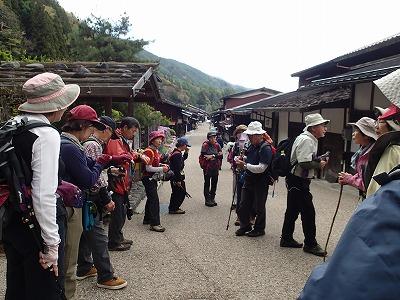 16奈良井宿で解散