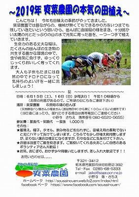 2019年田植えのお誘い