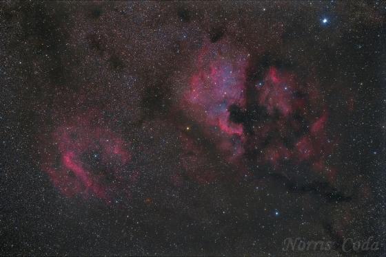 北アメリカ星雲付近