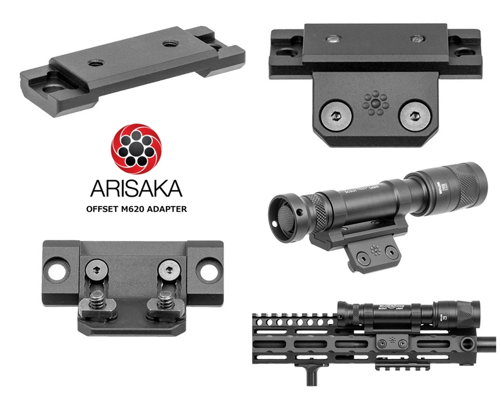 2 実物 ARISAKA DEFENSE LLC OFFSET M620 ADAPTER & SCOUT MOUNT M-LOK & SUREFIRE M952V 実物 アリサカ