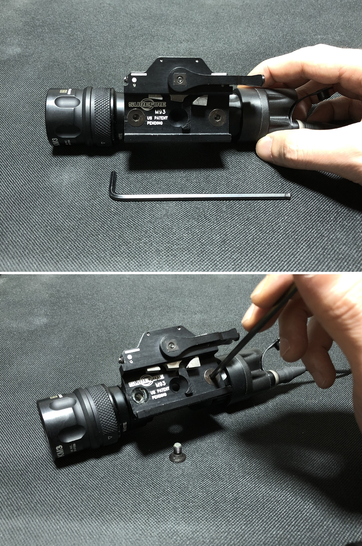 11 実物 ARISAKA DEFENSE LLC OFFSET M620 ADAPTER & SCOUT MOUNT M-LOK & SUREFIRE M952V 実物 アリサカ