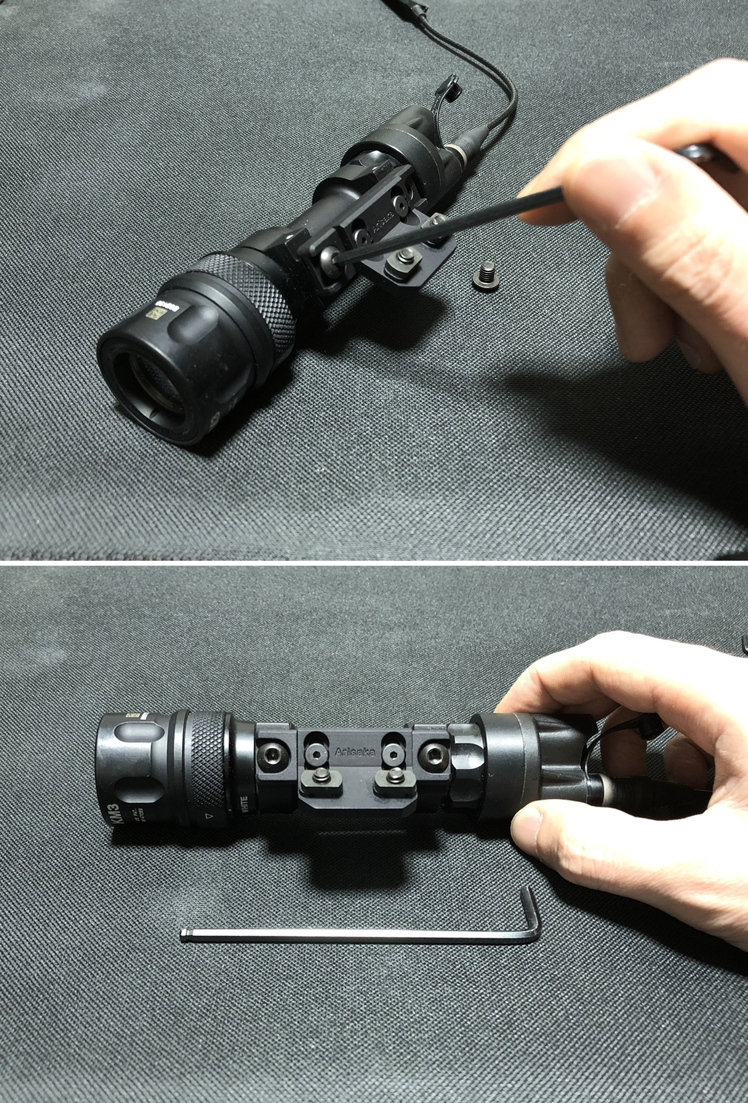 14 実物 ARISAKA DEFENSE LLC OFFSET M620 ADAPTER & SCOUT MOUNT M-LOK & SUREFIRE M952V 実物 アリサカ