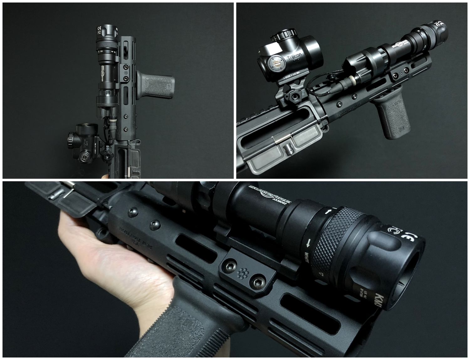 17 実物 ARISAKA DEFENSE LLC OFFSET M620 ADAPTER & SCOUT MOUNT M-LOK & SUREFIRE M952V 実物 アリサカ