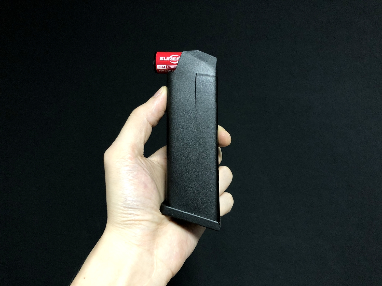 0 TMC GLOCK MAGAZINE STYLE CR123A BATTERY CASE グロック マガジン スタイル 電池ケース SUREFIRE SF123A 純正電池!! 購入 開封 取付 レビュー!!