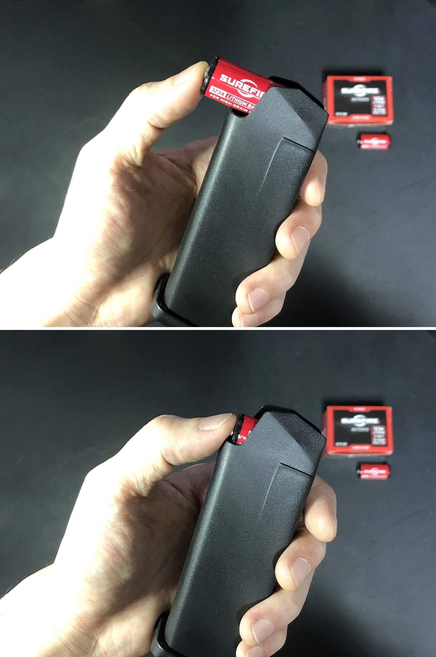 9 TMC GLOCK MAGAZINE STYLE CR123A BATTERY CASE グロック マガジン スタイル 電池ケース SUREFIRE SF123A 純正電池!! 購入 開封 取付 レビュー!!