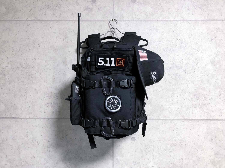 0 実物 511 Tactical RUSH 12 BACKPACK CUSTOM!! ライフルケース・ストラップシステム・ポーチ・ワッペン・ITW TAC LINKなど!! ファイブイレブン タクティカル ラッシュ バックパック カスタム!! 購入 取付 レビュー