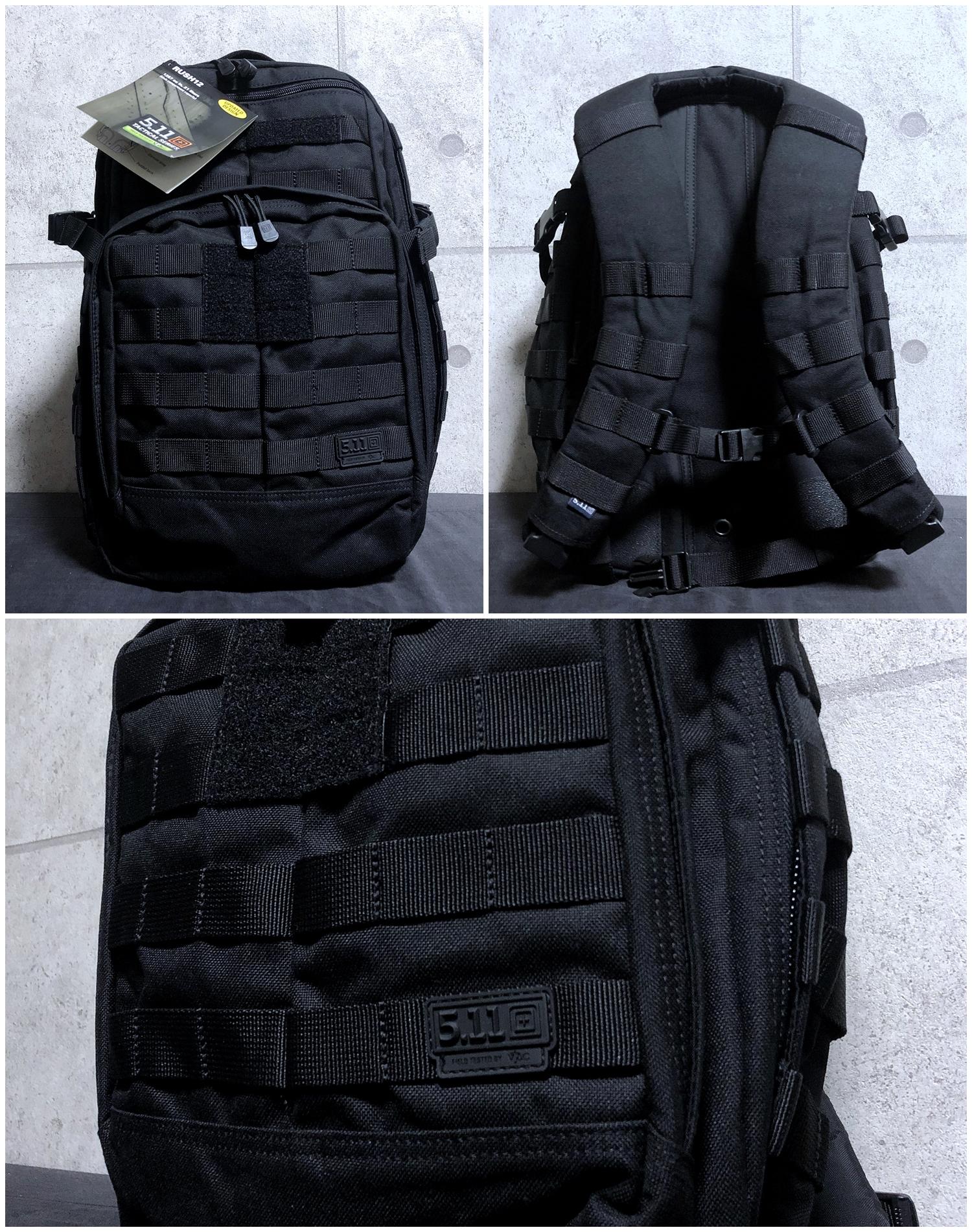 1 実物 511 Tactical RUSH 12 BACKPACK CUSTOM!! ライフルケース・ストラップシステム・ポーチ・ワッペン・ITW TAC LINKなど!! ファイブイレブン タクティカル ラッシュ バックパック カスタム!! 購入 取付 レビュー