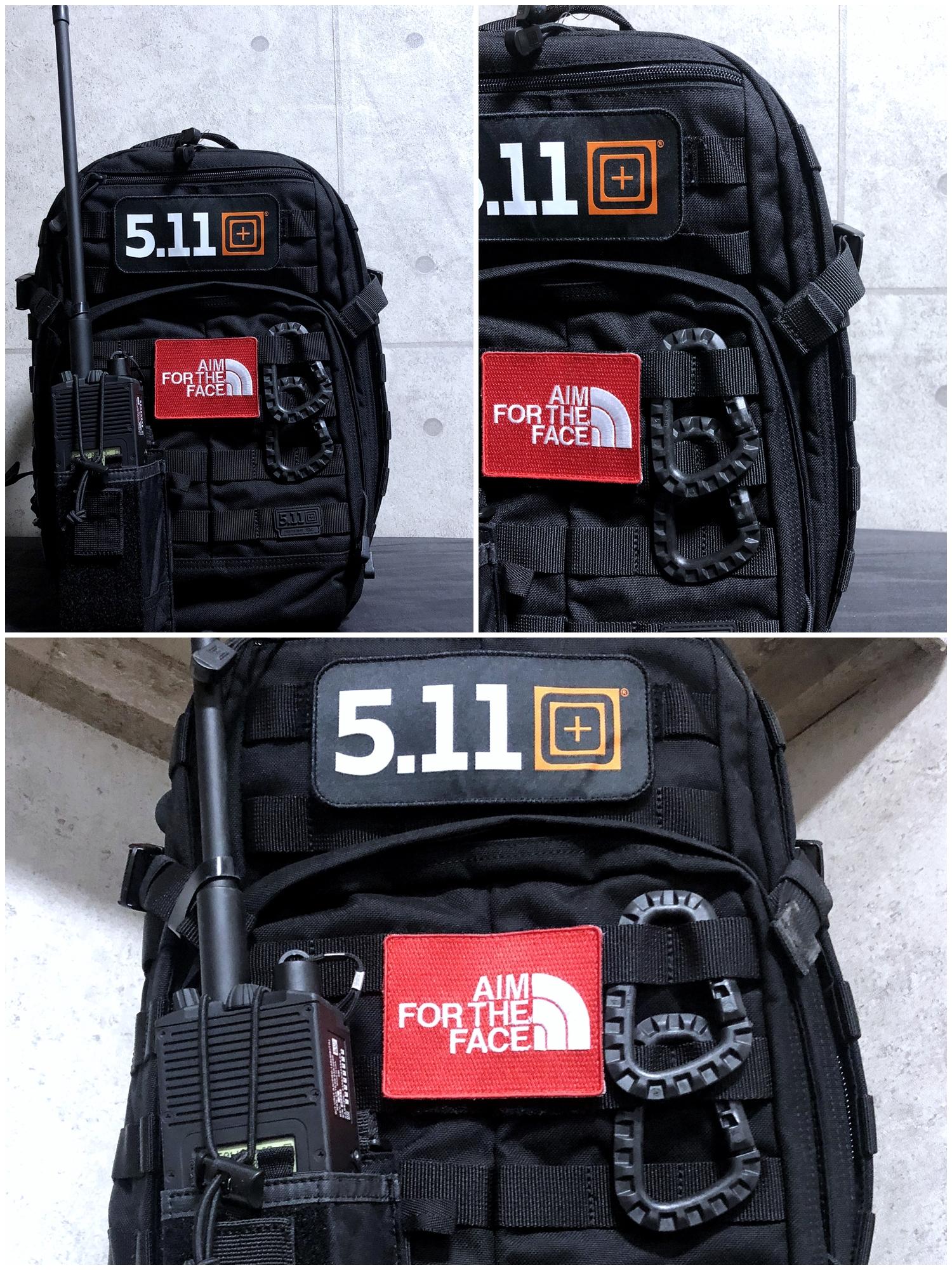 3 実物 511 Tactical RUSH 12 BACKPACK CUSTOM!! ライフルケース・ストラップシステム・ポーチ・ワッペン・ITW TAC LINKなど!! ファイブイレブン タクティカル ラッシュ バックパック カスタム!! 購入 取付 レビュー
