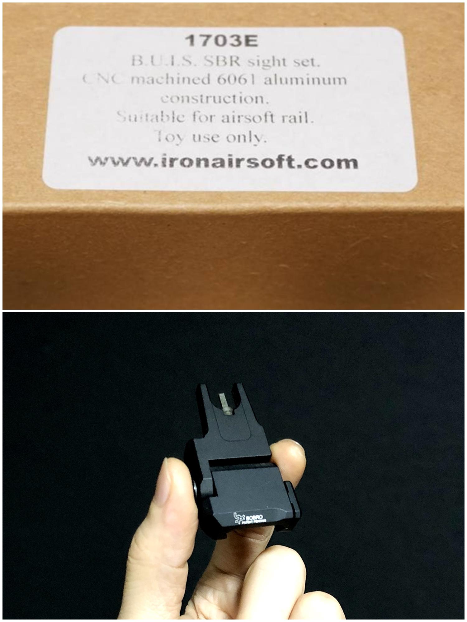 1 IRON AIRSOFT BOBRO BUIS SBR Low Rider 極薄 フォールディングサイト!! CQB戦 or 夜戦 NOVESKE NSR 7 M-LOK 仕様 ハンドガード & アッパーフレームを 追加で作っちゃお!! 購入 組込 分解 取付 レビュー!! したる