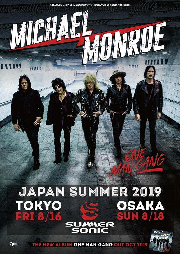 Michael Monroe Summer Sonic 2019