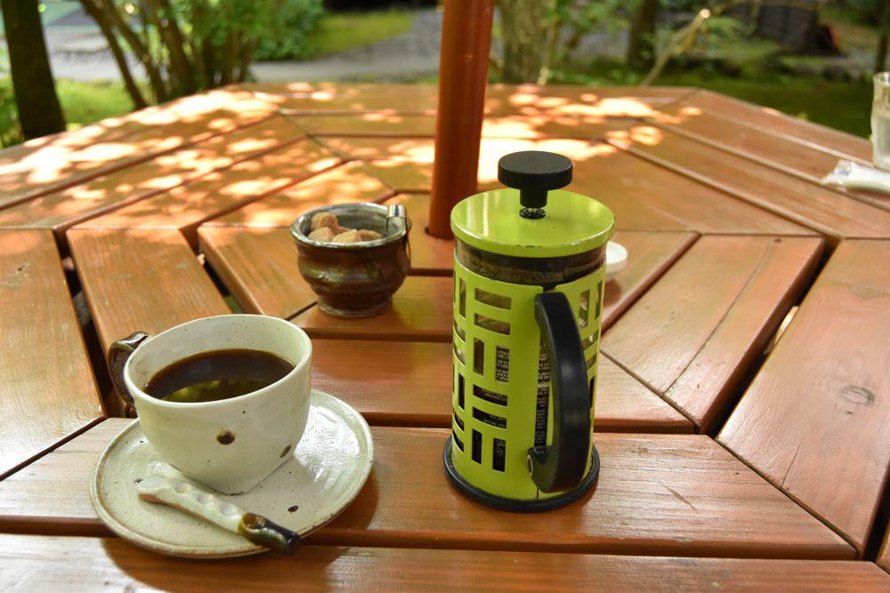 丸山珈琲でmさんが注文したフレンチプレスのコーヒー