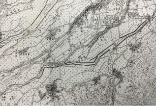明治42年の地図には、上・下牛坂が