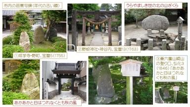金沢の古い順に芭蕉句碑を
