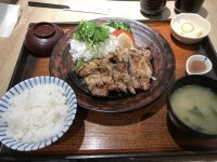 炭烤鹽麴五花肉定食190527
