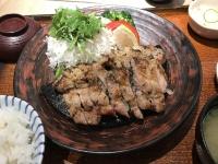 豚バラ肉の塩麹漬け炭火焼き190527