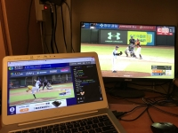 CATVとネットTVで同時野球観戦190705