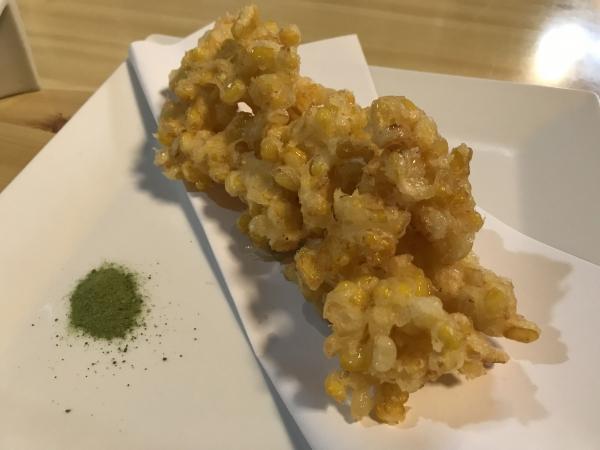 190812ートウモロコシの天ぷら@八十八