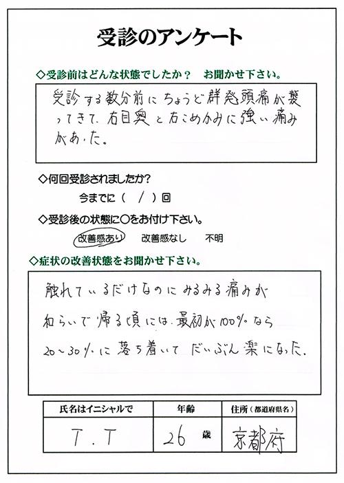 群発頭痛,岡山,広島,山口,鳥取