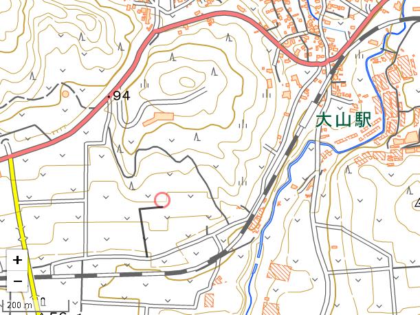 大山駅地図