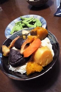 煮込み野菜とソーメン