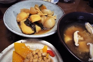 野菜煮朝食