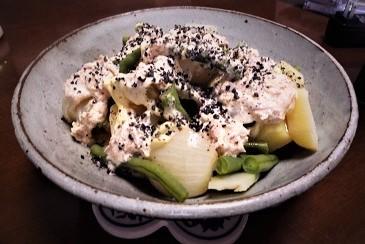 季節野菜と自家製ドレッシング