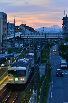 2018年8月19日 JR東日本横浜線 鴨居 185系B3編成