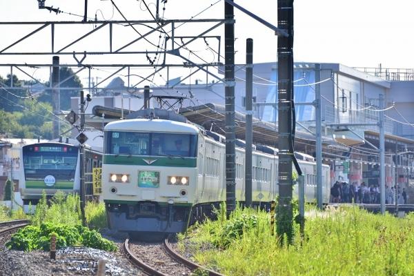 2018年8月26日 JR東日本横浜線 菊名~新横浜 E233系H001編成/185系B3編成