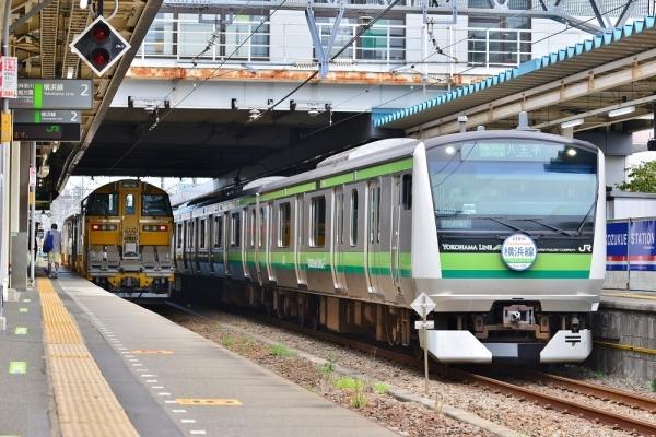 2018年8月30日 JR東日本横浜線 小机 キヤE195系LT-1編成/E233系H001編成