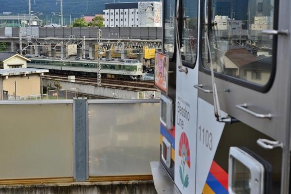 2018年10月10日 上田電鉄別所線 上田 1000系1003編成/JR東日本 189系N102編成