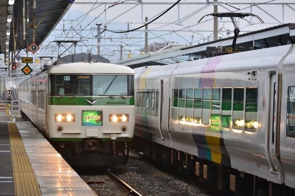 2018年11月4日 JR東日本篠ノ井線 松本 185系B5編成/E257系