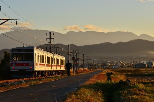 2018年11月20日 上田電鉄別所線 八木沢~舞田 1000系1001編成