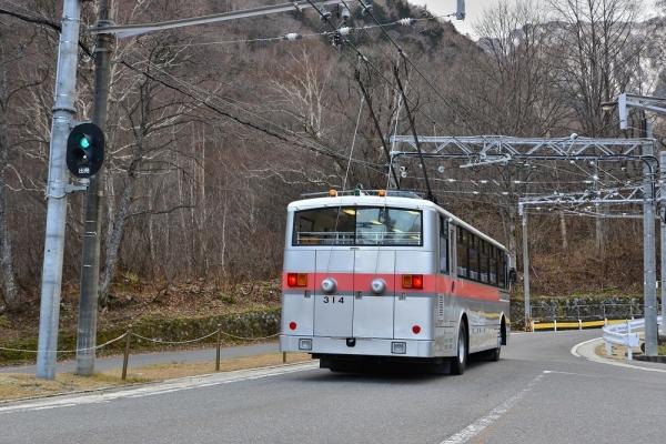 2018年11月20日 関電トンネルトロリーバス 扇沢 300形314