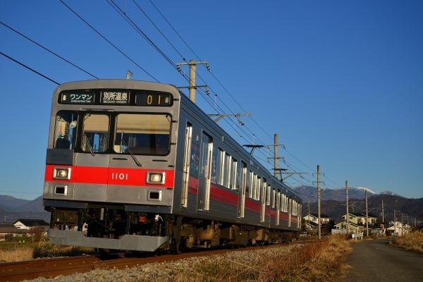 2018年12月13日 上田電鉄別所線 中野~舞田 1000系1001編成