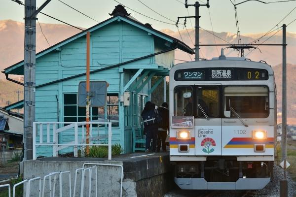 2018年12月13日 上田電鉄別所線 八木沢 1000系1002編成