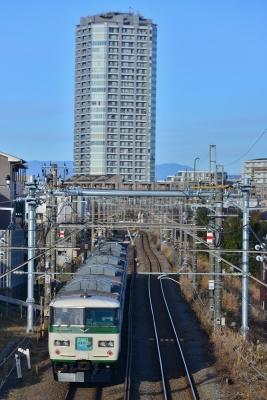 2018年12月31日 JR東日本横浜線 十日市場~長津田 185系B5編成